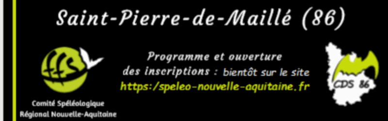 Congrès Spéléo Nouvelle Aquitaine